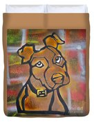 Brown Dog Duvet Cover