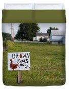 Brown Eggs Duvet Cover