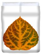 Brown Green Orange And Red Aspen Leaf 1 Duvet Cover