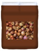 Brown Onions Duvet Cover