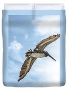 Brown Pelican Duvet Cover