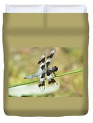 Brown Striped Double Winged Dragonfly Duvet Cover