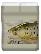 Brown Trout Duvet Cover