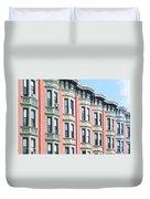 Brownstone Art Hoboken Nj Duvet Cover