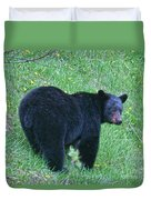 Browsing Black Bear Duvet Cover