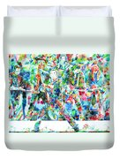 Bruce Springsteen And The E Street Band - Watercolor Portrait Duvet Cover
