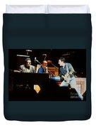 Bruce Springsteen Billy Joel And Paul Schaffer Duvet Cover