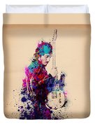 Bruce Springsteen Splats And Guitar Duvet Cover