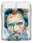 Bruce Springsteen Watercolor Portrait.1 Duvet Cover
