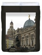 Bruehlsche Terrace - Church Of Our Lady - Dresden - Germany Duvet Cover