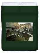 Bruges Canal Bridge Duvet Cover