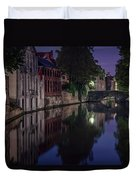 Bruges Canal Near Blind Donkey Alley  Duvet Cover
