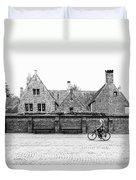 Bruges Cyclist Duvet Cover