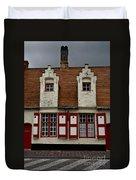 Bruges Houses Duvet Cover