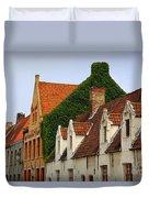 Bruges Rooftops Duvet Cover by Carol Groenen