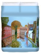 Brugge Canal Duvet Cover