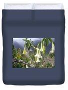 Brugmansia At Machu Picchu Duvet Cover