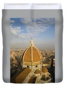 Brunelleschi's Dome At The Basilica Di Santa Maria Del Fiore Duvet Cover
