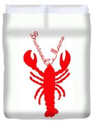 Brunswick Maine Lobster With Feelers 20130605 Duvet Cover