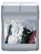 Brushing Winter Away Duvet Cover