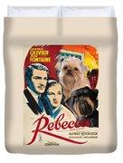 Brussels Griffon Art - Rebecca Movie Poster Duvet Cover