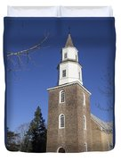 Bruton Parish Church In Colonial Williamsburg Duvet Cover