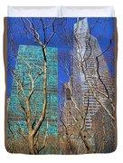 Bryant Park Duvet Cover by Mariola Bitner