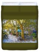 Bryant Park October Duvet Cover by Liz Leyden