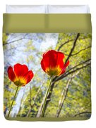 Bryant Park Tulips New York  Duvet Cover