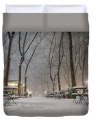 Bryant Park - Winter Snow Wonderland - Duvet Cover