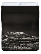 Bryce Canyon Formations In Black And White Duvet Cover