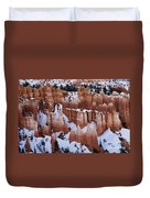 Bryce Canyon In Winter 2 Duvet Cover