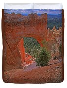 Bryce Canyon Natural Bridge And Tree Duvet Cover