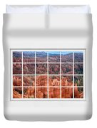 Bryce Canyon White Picture Window View Duvet Cover