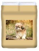 Shih Tzu In Oil Duvet Cover