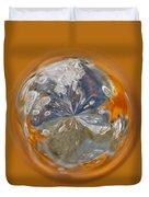 Bubble Out Of Orange Orb Duvet Cover