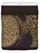 Bubbles And Metal Abstract Duvet Cover