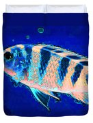 Bubbles - Fish Art By Sharon Cummings Duvet Cover