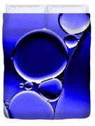 Bubbles In Blue Duvet Cover