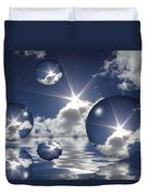 Bubbles In The Sun Duvet Cover