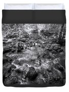 Bubbling Water Brook In The Smokies Duvet Cover