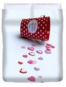 Bucket Of Hearts Duvet Cover