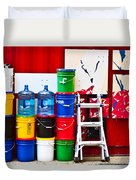 Buckets Of Color Duvet Cover