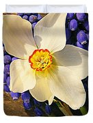 Buckeye And Grape Hyacinth Duvet Cover