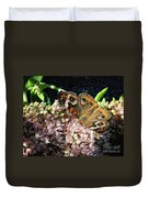 Buckeye Butterfly On Sedum Duvet Cover