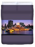Buckingham Fountain, Chicago, Illinois Duvet Cover
