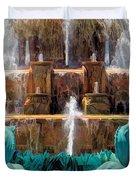 Buckingham Fountain Closeup Duvet Cover