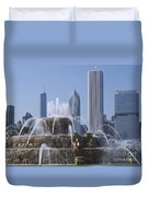 Buckingham Fountain Revisited Duvet Cover