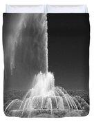 Buckingham Fountain Spray Black And White Duvet Cover