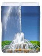 Buckingham Fountain Spray Duvet Cover